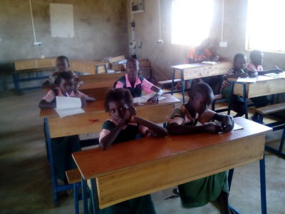 Pupils in classroom